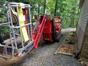 small tree removal crane